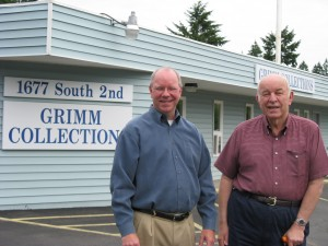 David and John Grimm outside of Grimm Collections